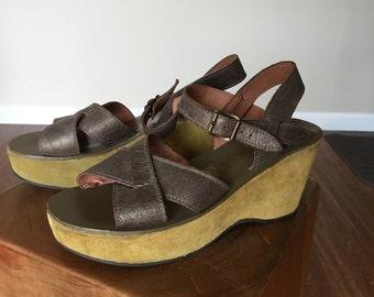 Kork Ease Platform Wedge Sandals Size 39 8.5 / 9