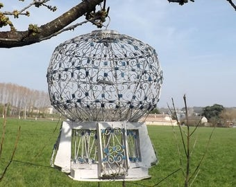Vintage bird cage wire bird cage original home decor garden decor vintage decor wire cage Moroccan Tunisian Arabic exotic home decor
