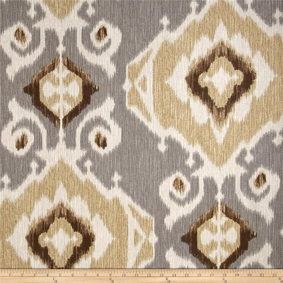 Delhi Fossil Ikat Home Decor Cotton Fabric By The Yard