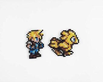 Final Fantasy VII Perler Bead Sprites