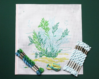 Needlepoint, Needlepoint Kits, Needlepoint Underwater Seascape, Needlework, Needlework Kits, Needlework Seascapes, Underwater Needlepoint