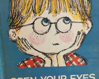 Open Your Eyes, vintage children's book, parents magazine press, Roz Abisch, children's book