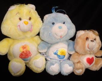 Care Bears starter kit!  Baby Tugs, Birthday Bear, Tenderheart Care Bears plush stuffed animal