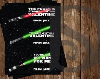 Star Wars Valentine Printables - Just add Glow Sticks! REDUCED PRICE