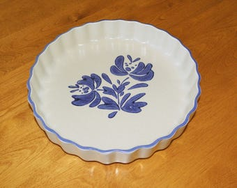 """Pfaltzgraff 9"""" YORKTOWN Quiche Baking Dish Microwave and Oven Safe VINTAGE & Made in the USA"""