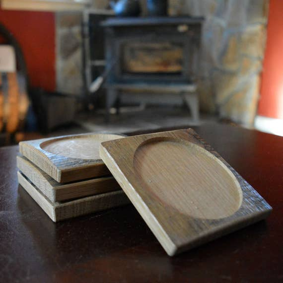 Whiskey Barrel Coasters (Set Of Four)