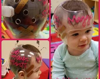 Cranial Band Decals Etsy - Baby helmet decals