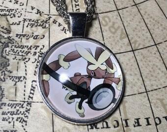 Lopunny Pokemon Necklace