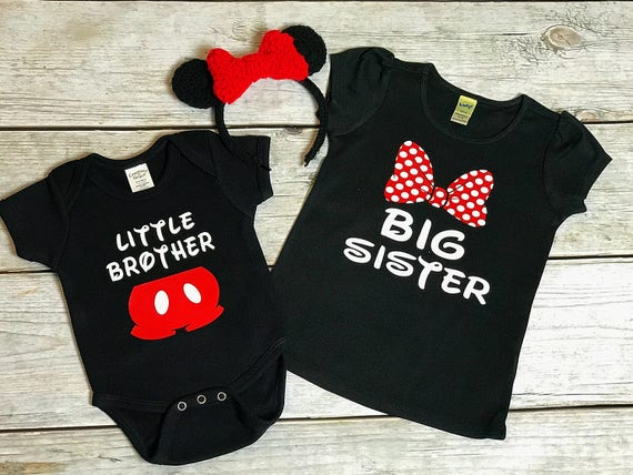 Disney Family Matching Shirt Set Big Brother Little Sister