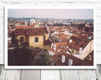Prague Rooftop Print, Prague Print, Prague Photo Print, Prague Photography, Digital Photo Printable, Printable Wall Art, Prague Photograph