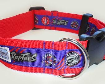 "Exclusive Sports Series TORONTO RAPTORS 1.5"" Clip Collar, Martingale, Martingale-clip M, L, XL or Leash"