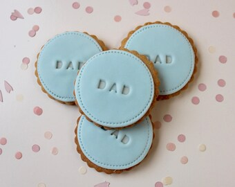 Gift for Dad, New Dad Gift, Father's Day gift, Dads birthday gift, biscuits for Dad, blue gift,