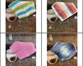 Dish Cloths, Wash Cloths, Crochet Dish Cloths, Crochet Wash Cloths, Kithchen Cloths, Bathroom Wash Cloths, Dishwashing Cloths