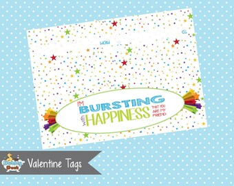 Bursting with Happiness Valentine's Day Topper (Instant Download)