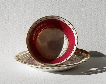 Vintage Tea Cup and Saucer - Made in Japan