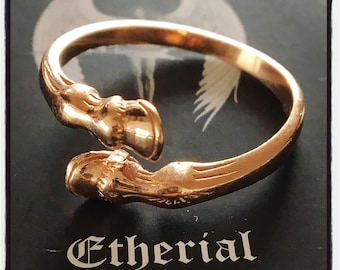 Sterling Silver Horse Hoof Ring Silver Horse Shoe Ring Horse Shoe Ring Horse Ring Equestrian Ring Equestrian Horse Hoof Horse Petal Ring