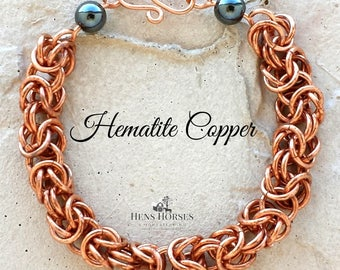Magnetic Hematite Copper Bracelet | Copper Bracelet | Arthritis Bracelet | Healing Bracelet | Arthritis Jewelry | Hematite
