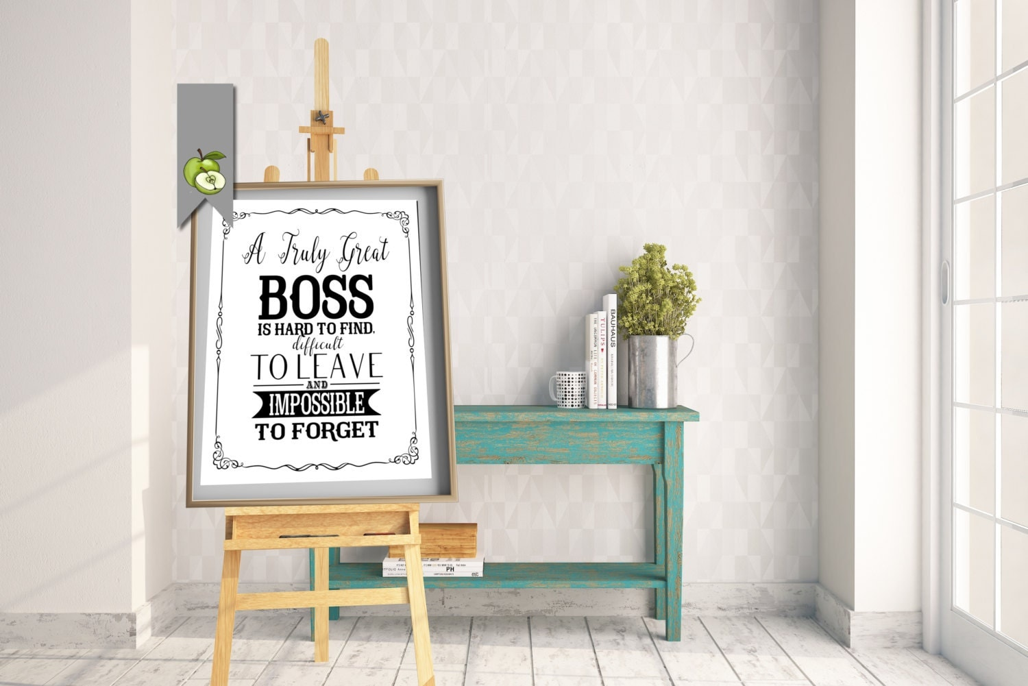 boss leaving boss appreciation day boss week boss card boss gift thank you boss mentor leader typographic printable retirement leaving gift