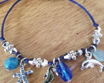 BRACELET: Girls Nautical Themed Rope Charm Bracelet