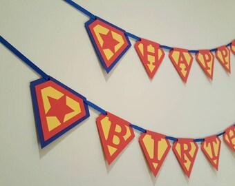 Superman birthday - superman banner - superman custom - superman party - superman decorations - superman garland - superman baby shower