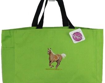 Beautiful Palomino Horse Trotting Monogram Custom Embroidered Essential Tote Bag