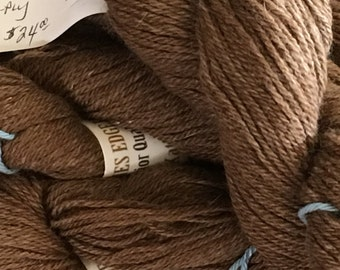Luxury Cocoa Brown Alpaca Angora Camel Down Silk Yarn