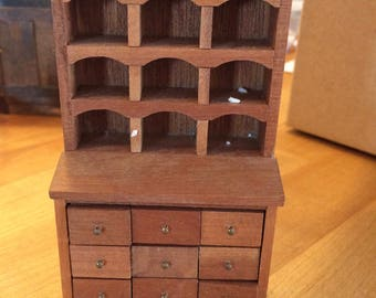 Miniature Apothecary Cupboard