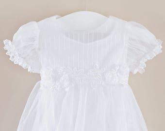 Hazel Christening Dress, Baptism Dress, LDS Blessing Dress, Flower Girl Dress, Easter Dress for Baby Girl's