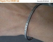 BlackFriday/CyberMonday Inspirational Message Bracelet Personalized Cuff Bangle Hand Stamped Sterling Silver Man Jewelry Unisex Bangles Cust