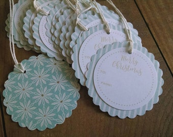 Merry Christmas! Limited Edition Christmas Gift Tags, set of 12.