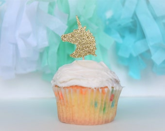 Unicorn Party Decorations...Unicorn Cupcake Topper...Unicorn Party Supplies...Unicorn Birthday...Cupcake Toppers..Unicorn 1st Birthday Party