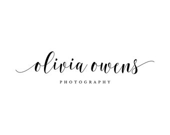 Premade Photography Logo - Typography Logo and Watermark Design - Business Branding - Small Business Watermark Logo - 239