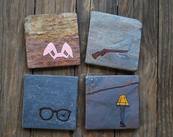 A Christmas Story Stone Coasters - Set of 4