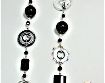 Vintage art glass beads necklace