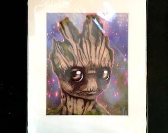 """Groot! played by Vin Diesel 11x14"""" Art Print by deShan"""