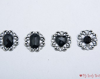 Gothic Bindi - faceted flower