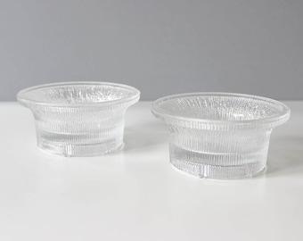 Set of 2 Dansk Glass Bowls Candleholders Gunnar Cyren Mid Century Modern