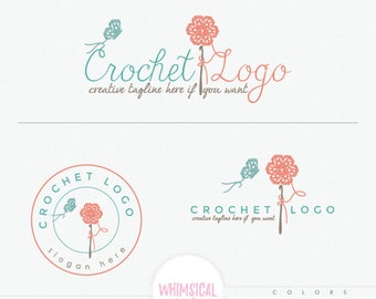 Crochet Flower and Butterfly - Handmade products logo - Craft store - Boutique - Sewing- Handmade Fashion