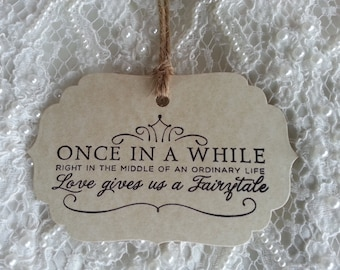 200  Wedding Wish Tree Tags Fairytale Weddings Vintage Aged Card Stock Rustic Style