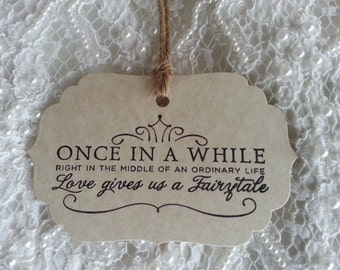 200  Wedding Wish Tree Tags Fairytale Weddings Vintage Aged Card Stock Rustic Style