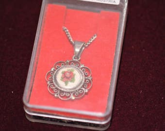 Vintage Petit Point Necklace