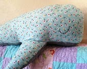 Stuffed whale.  Whale pillow. Blue whale. Stuffed animals. Plush whale. Kids gift. Whale themed gift. Fish stuffed animal. Ocean theme gift.