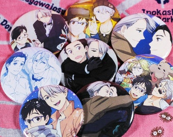 """Yuri!!! on Ice Victor & Yuri [Victuri] 2.25"""" can badges buttons pins"""