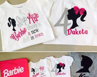 Barbie personalized Tshirts