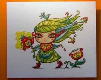 Cross Stitch Pattern : Lady Spring