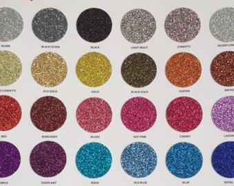"""20"""" x 12"""" Sheet Siser Glitter Heat Transfer Vinyl for Cricut & Silhouette"""