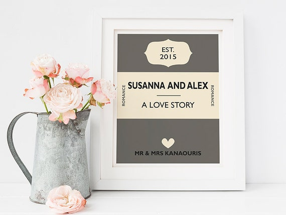 Personalised Wedding Gift Book : wedding gift - Personalised book cover print - custom wedding gift ...