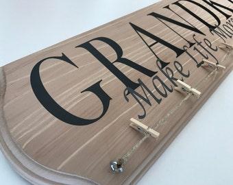 Grandkids Make Life More Grand Hand Painted Sign
