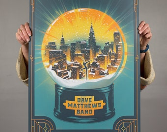Dave Matthews Band Madison Square Garden Poster Live Trax 40 // DMB // Wall art screen print