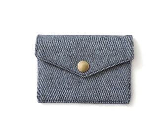 Minimalist Denim Wallet Slim Snap Wallet